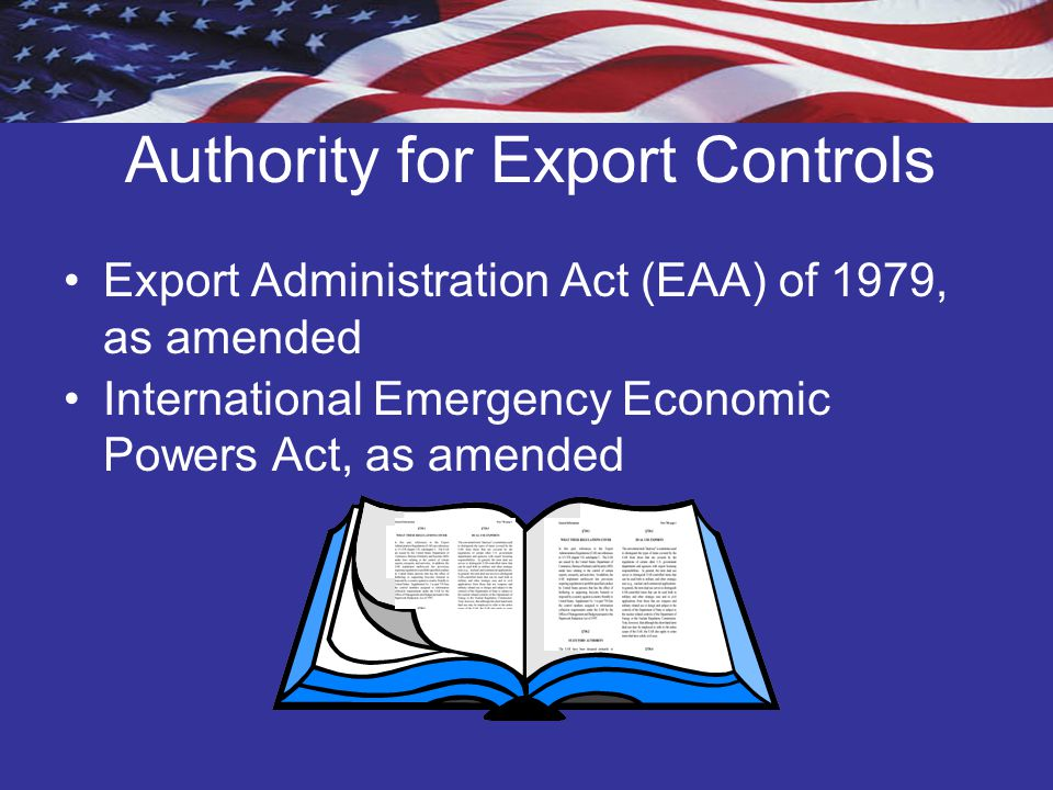 Authority for Export Controls