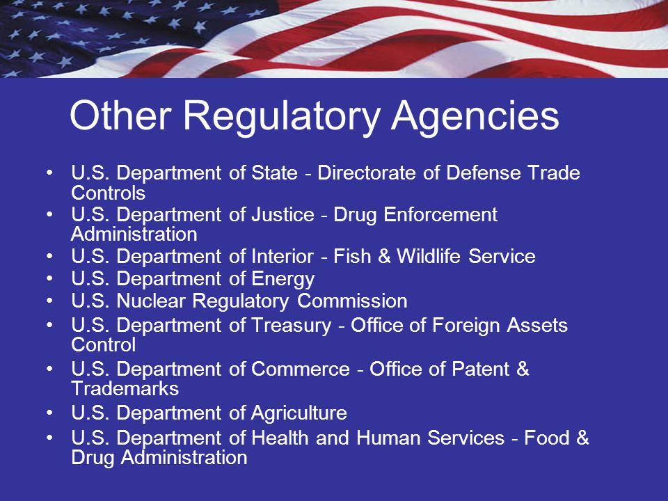 Other Regulatory Agencies