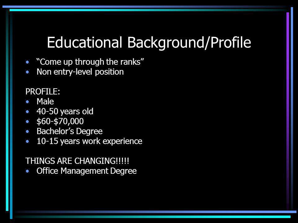 Educational Background/Profile