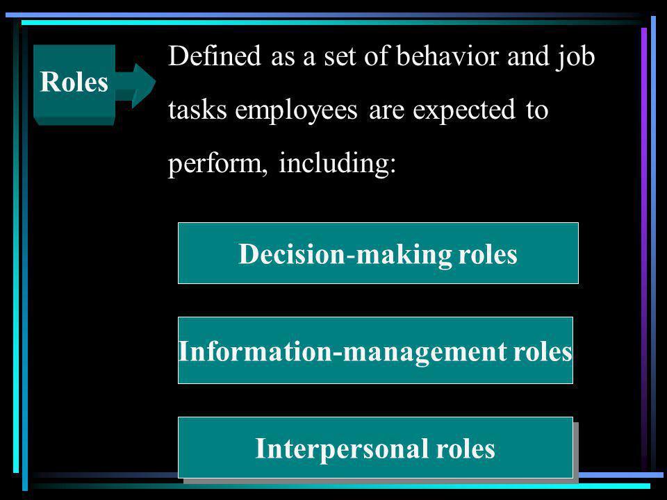 Information-management roles