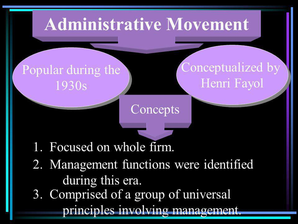 Administrative Movement