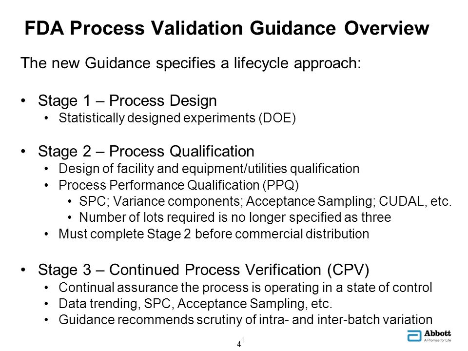FDA Process Validation Guidance Overview