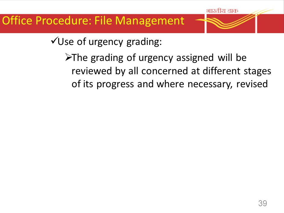 Office Procedure: File Management
