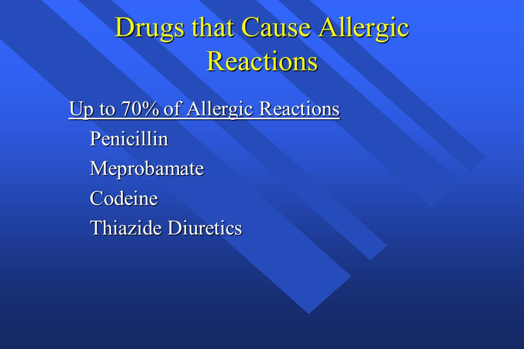Drugs that Cause Allergic Reactions