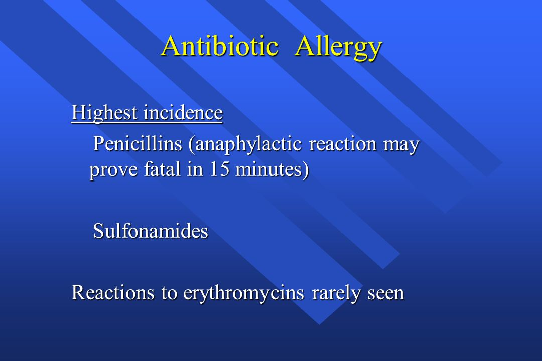 Antibiotic Allergy Highest incidence