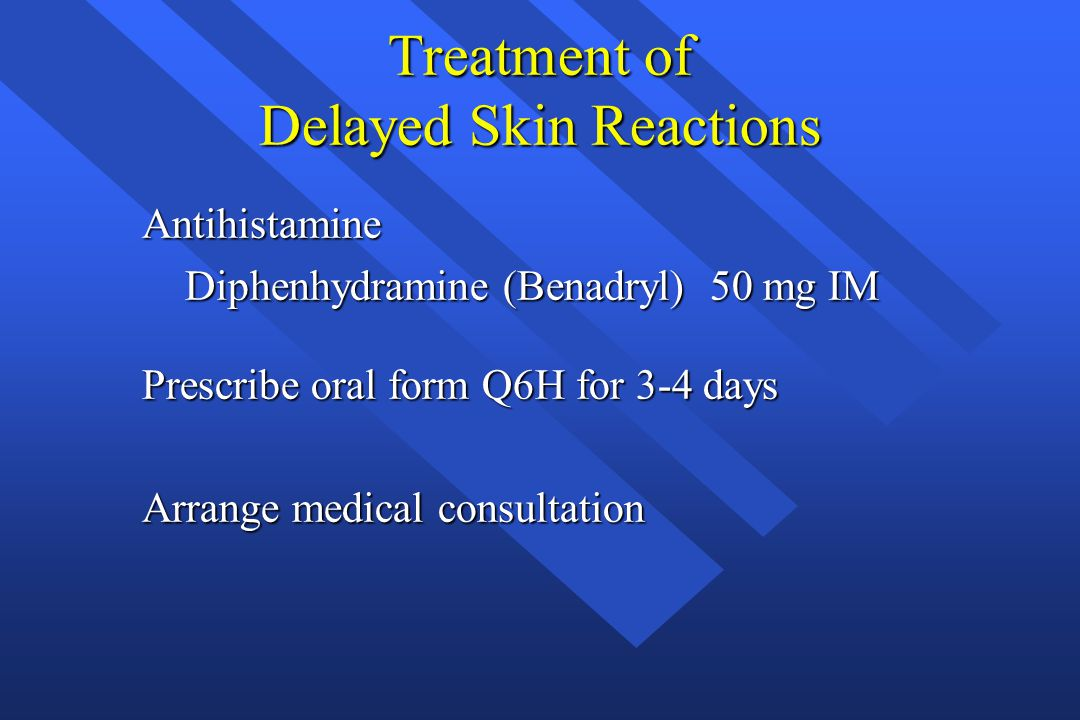 Treatment of Delayed Skin Reactions
