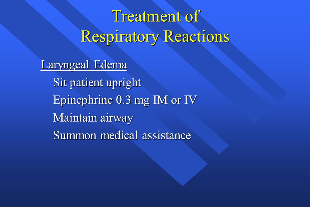 Treatment of Respiratory Reactions