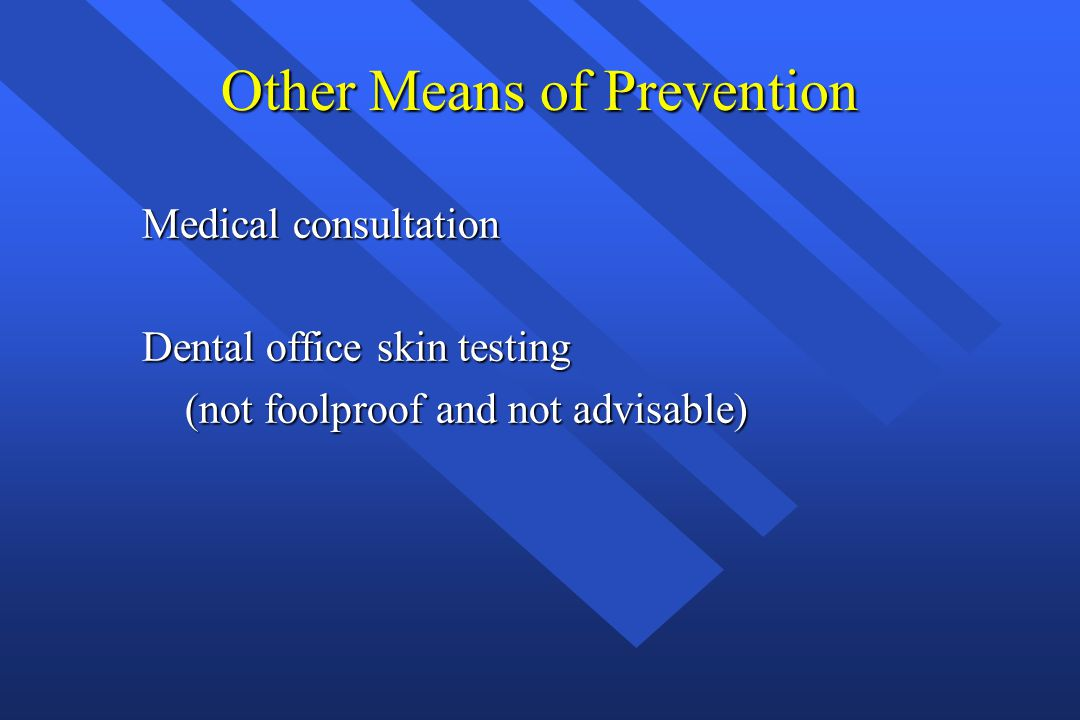 Other Means of Prevention