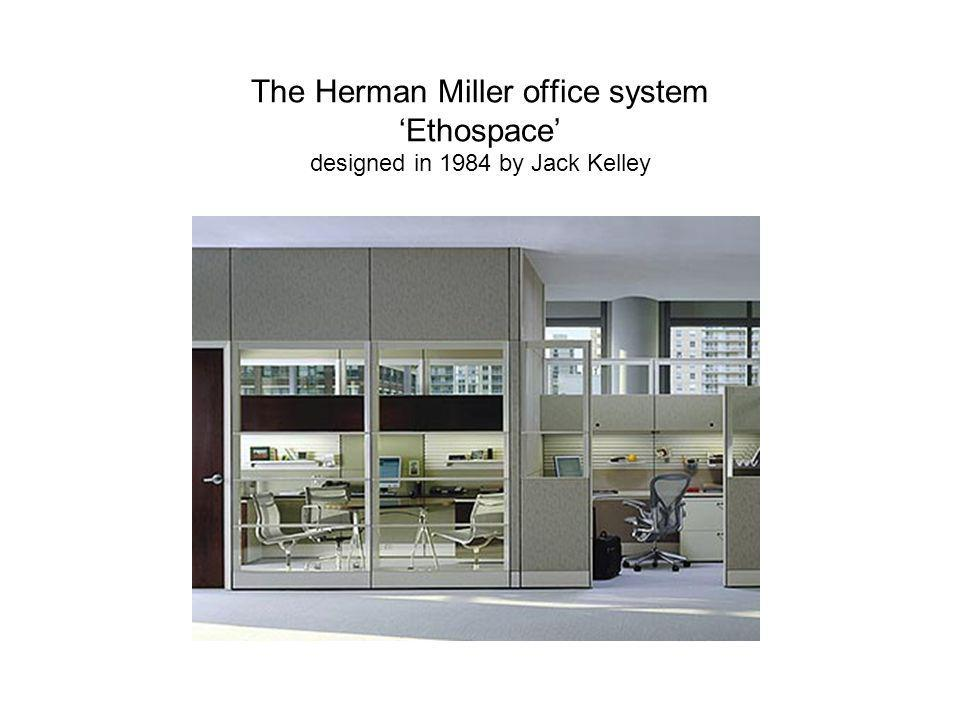 The Herman Miller office system 'Ethospace' designed in 1984 by Jack Kelley