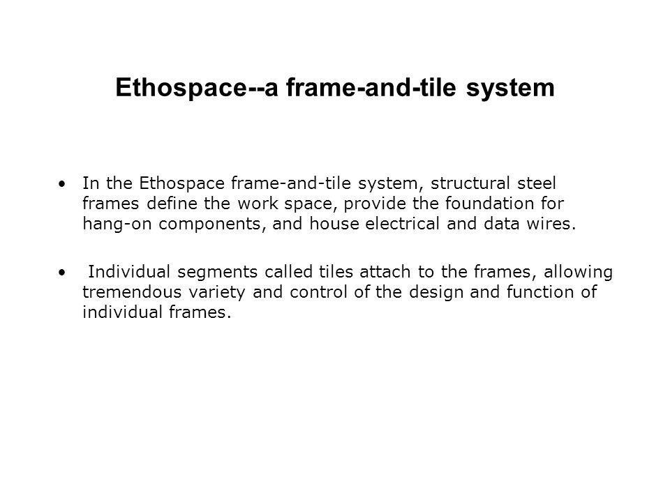Ethospace--a frame-and-tile system