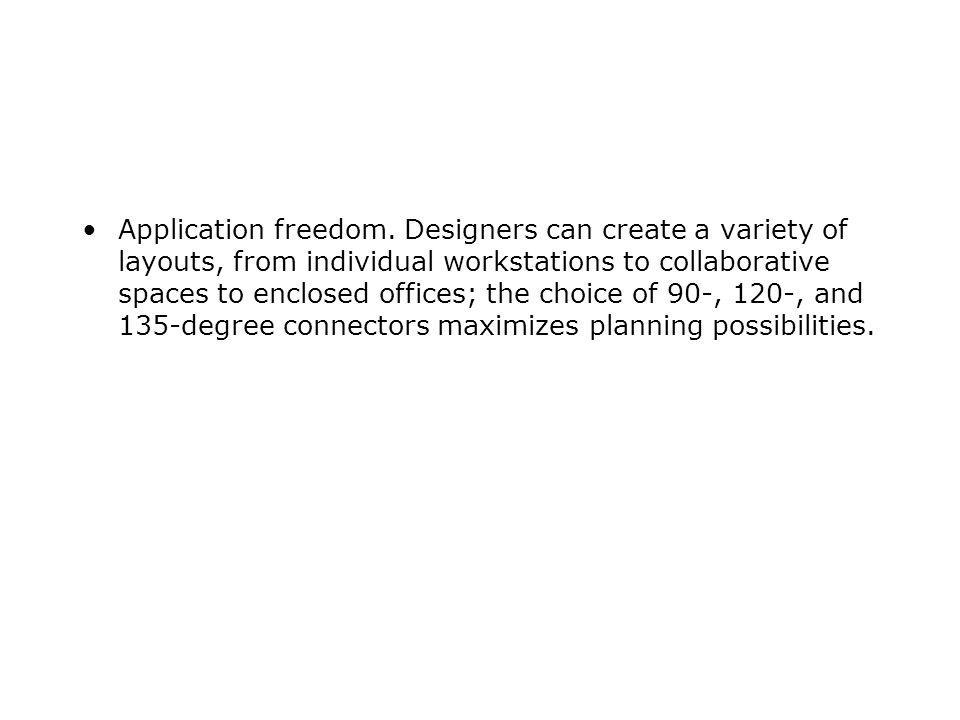 Application freedom.