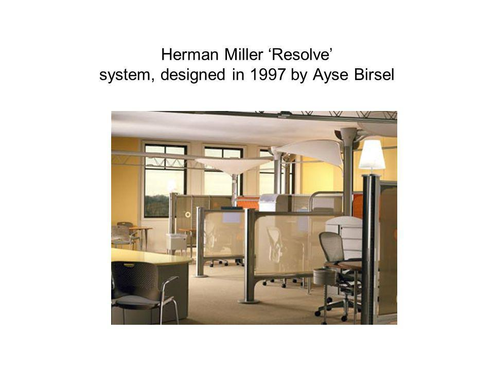 Herman Miller 'Resolve' system, designed in 1997 by Ayse Birsel