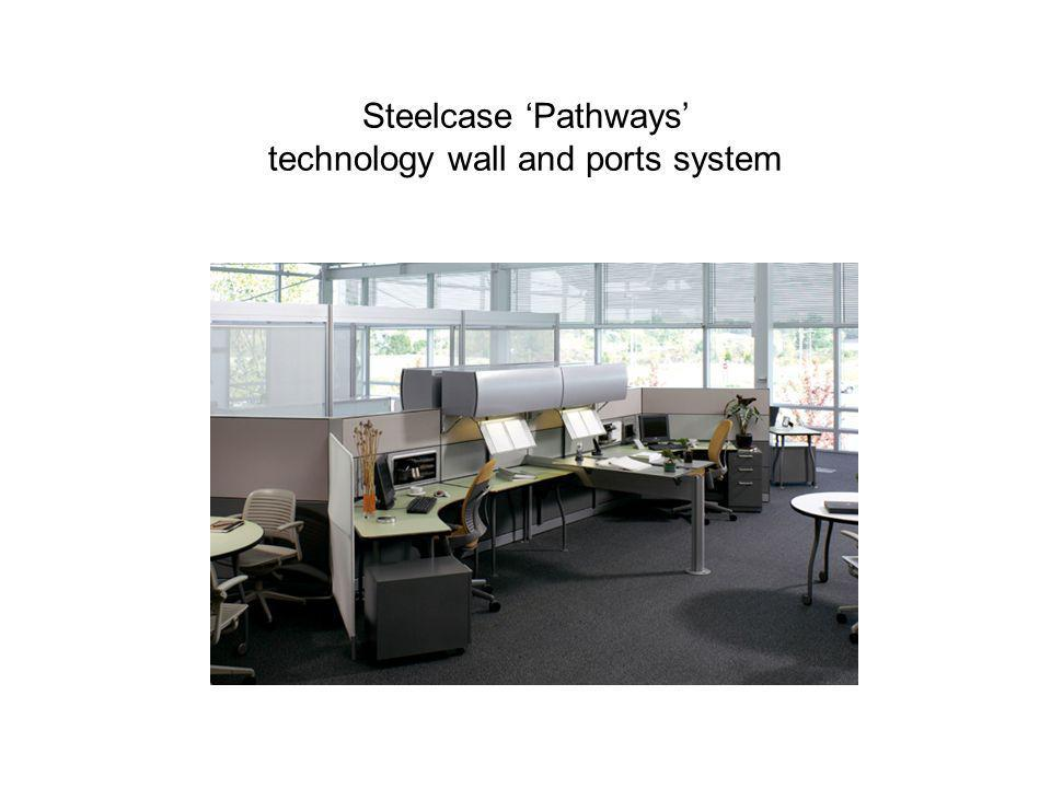 Steelcase 'Pathways' technology wall and ports system