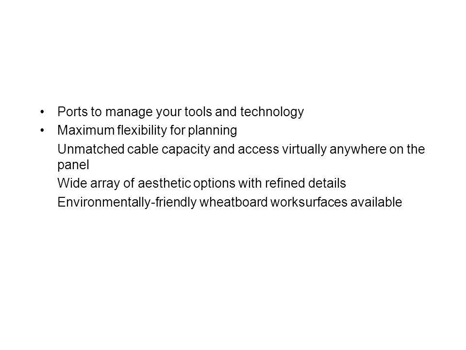 Ports to manage your tools and technology