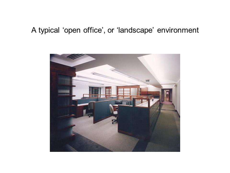 A typical 'open office', or 'landscape' environment