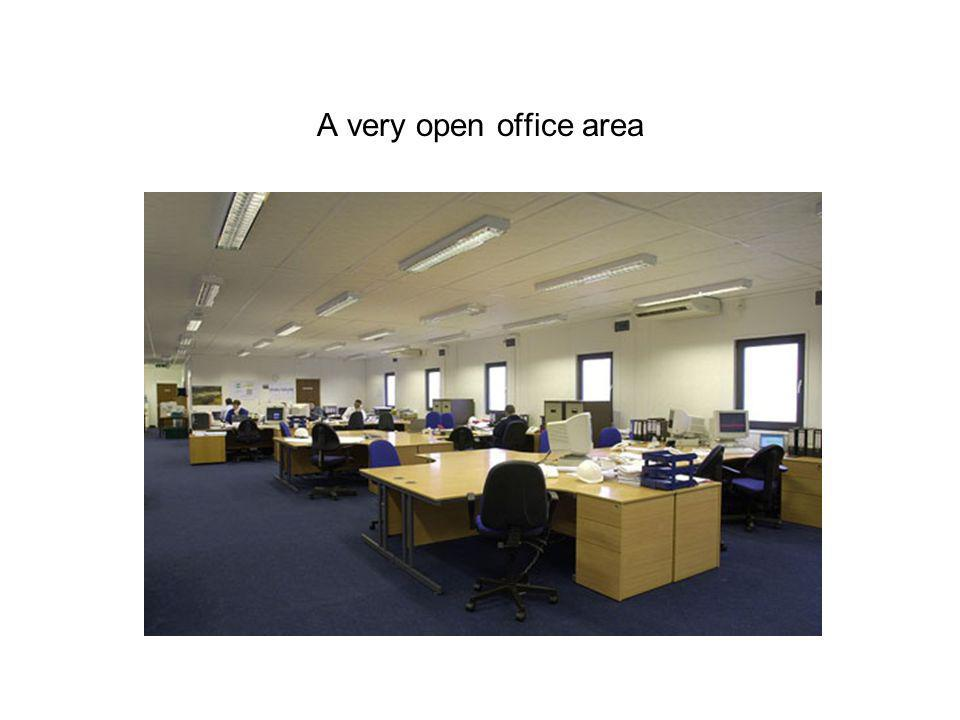 A very open office area