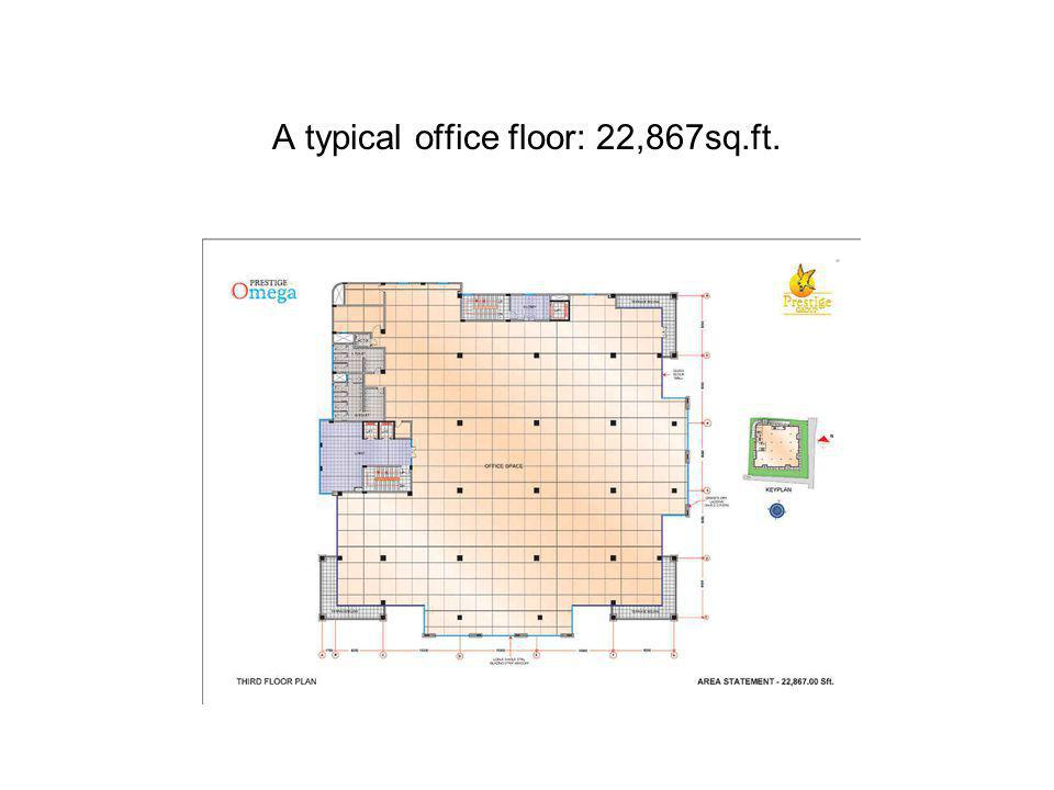 A typical office floor: 22,867sq.ft.