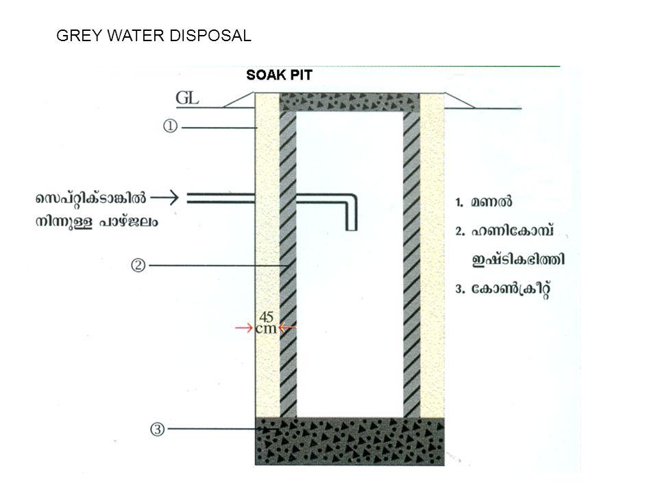 GREY WATER DISPOSAL