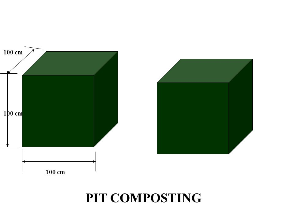 100 cm 100 cm 100 cm PIT COMPOSTING