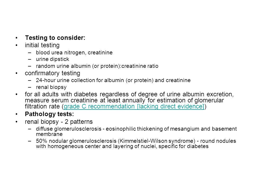 renal biopsy - 2 patterns