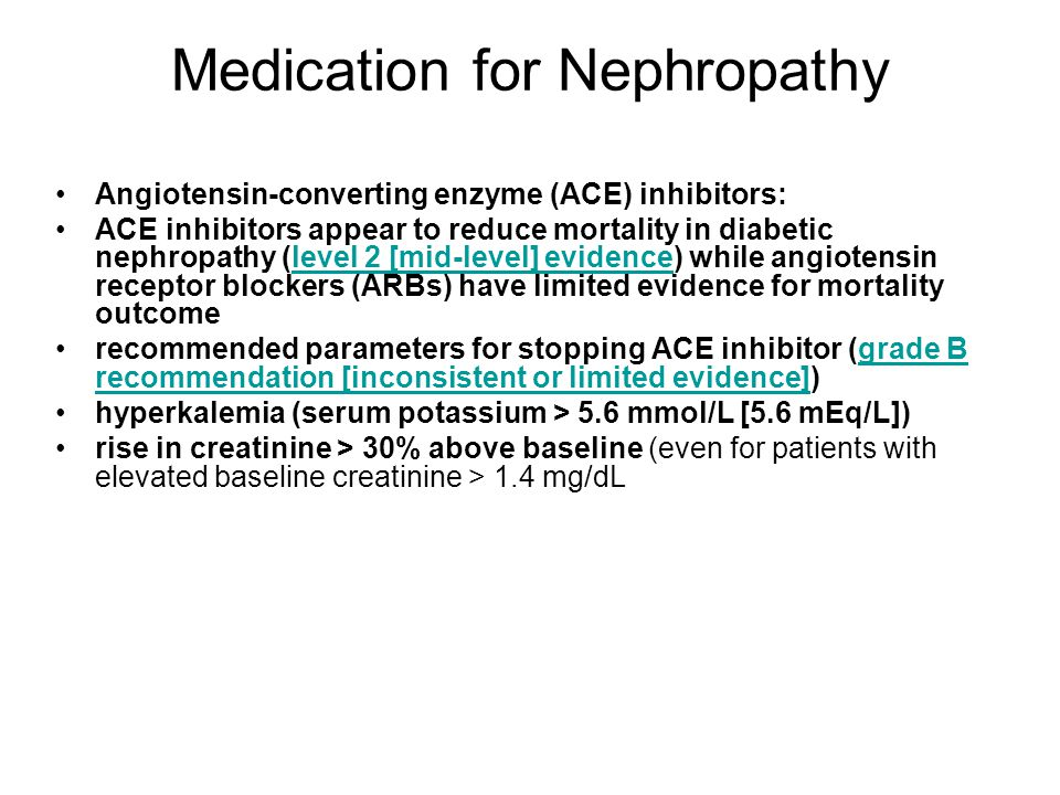Medication for Nephropathy