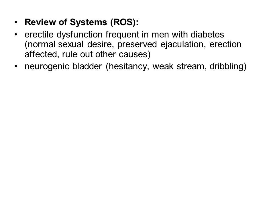 Review of Systems (ROS):