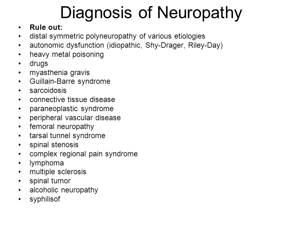Diagnosis of Neuropathy