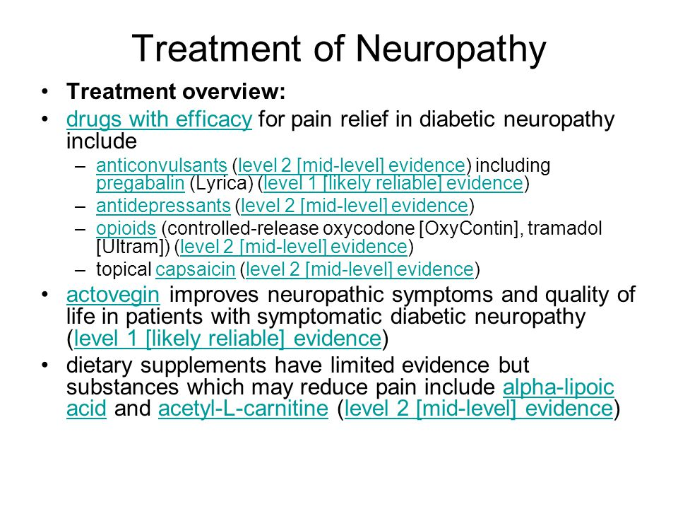 Treatment of Neuropathy