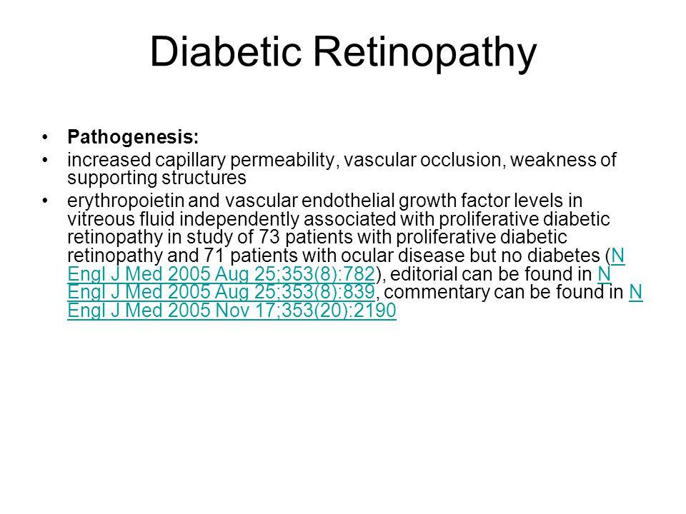 Diabetic Retinopathy Pathogenesis: