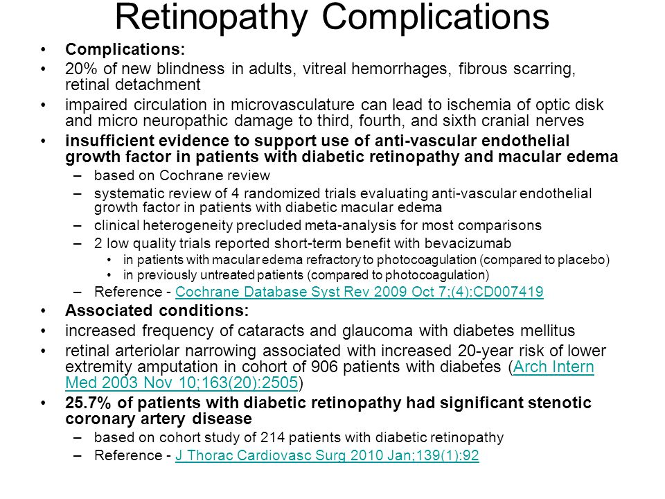 Retinopathy Complications