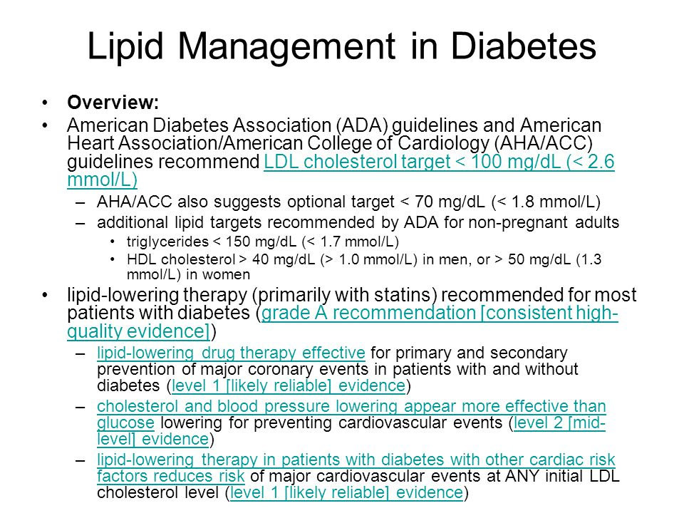 Lipid Management in Diabetes
