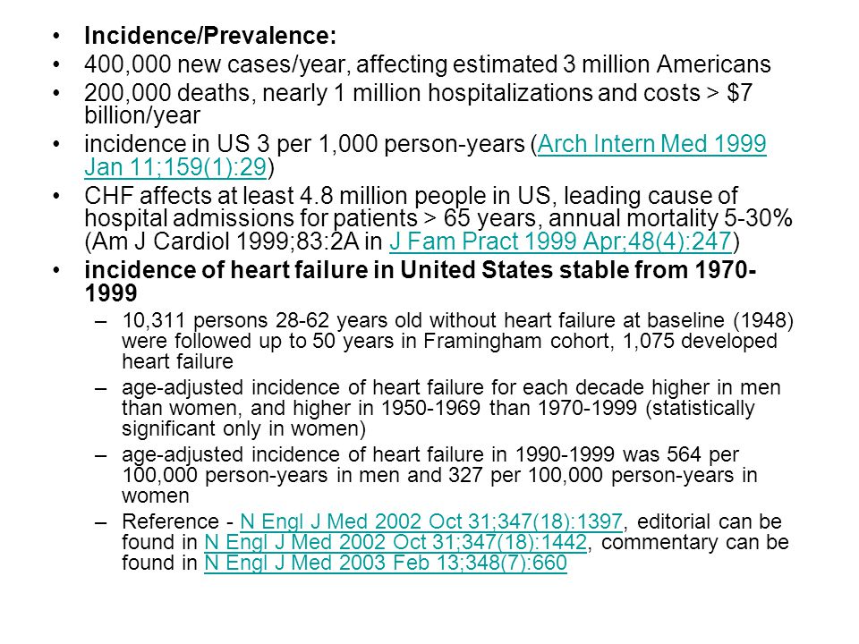 Incidence/Prevalence: