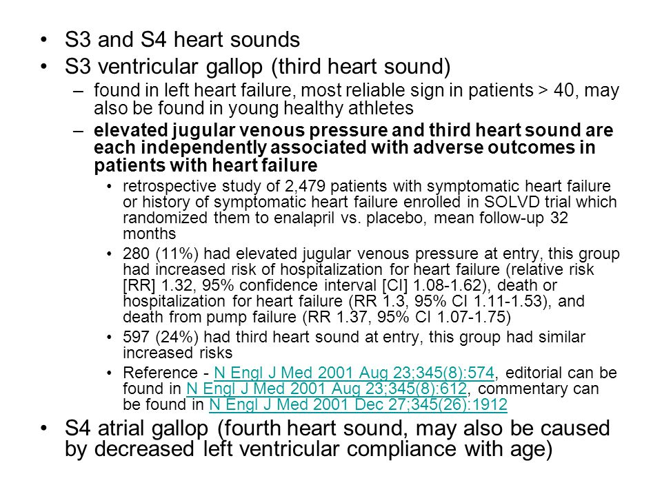 S3 ventricular gallop (third heart sound)