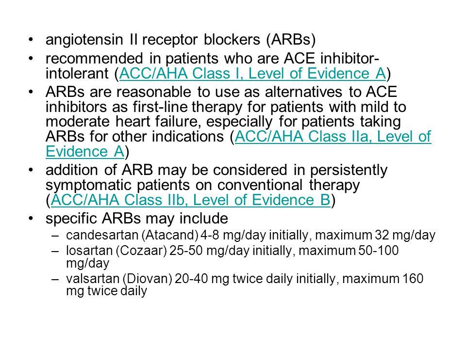 angiotensin II receptor blockers (ARBs)