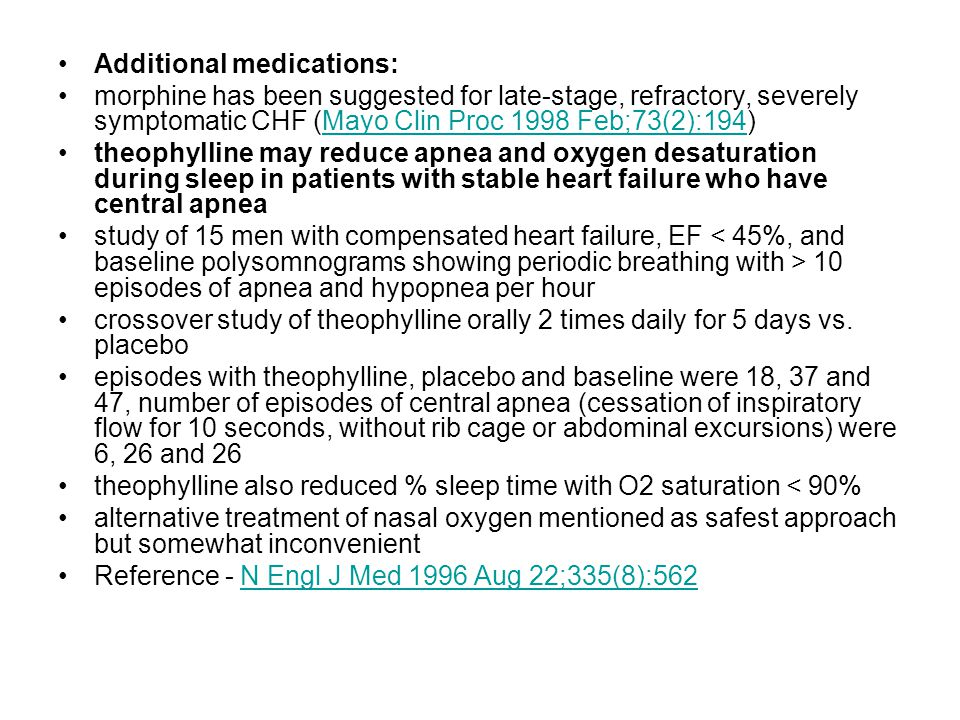 Additional medications: