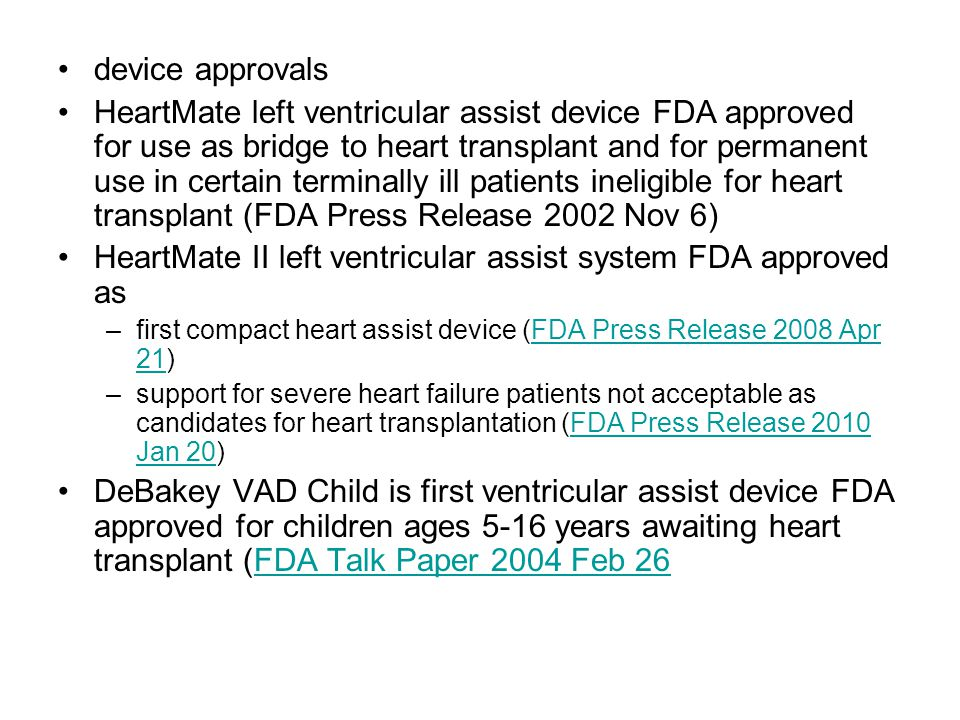 HeartMate II left ventricular assist system FDA approved as