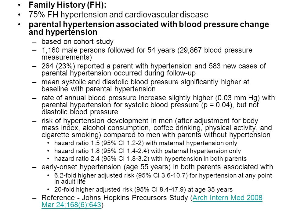 75% FH hypertension and cardiovascular disease