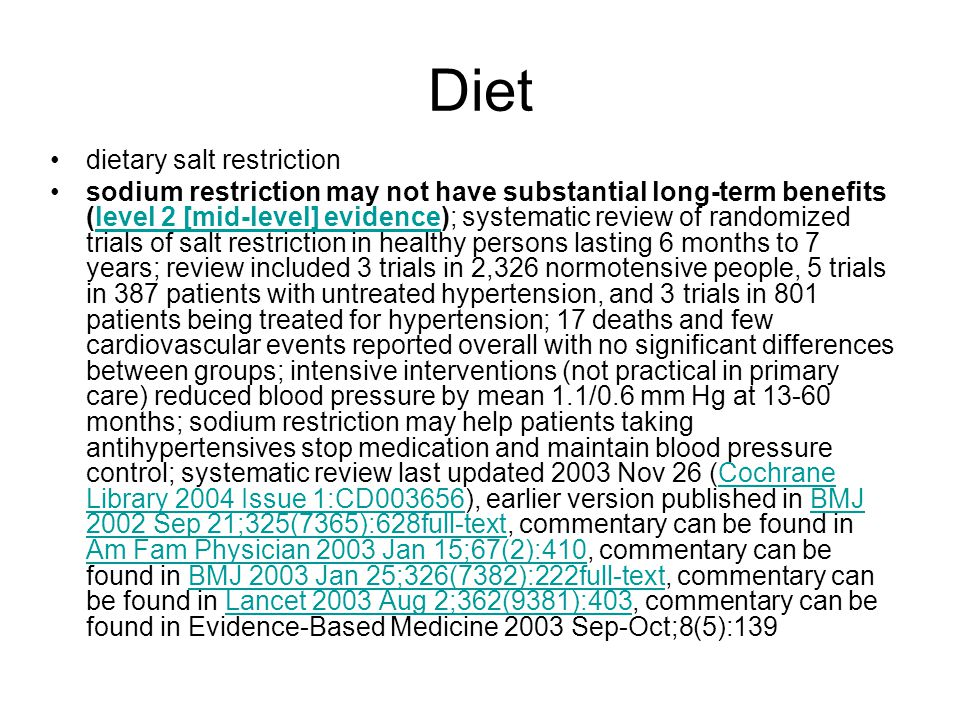 Diet dietary salt restriction