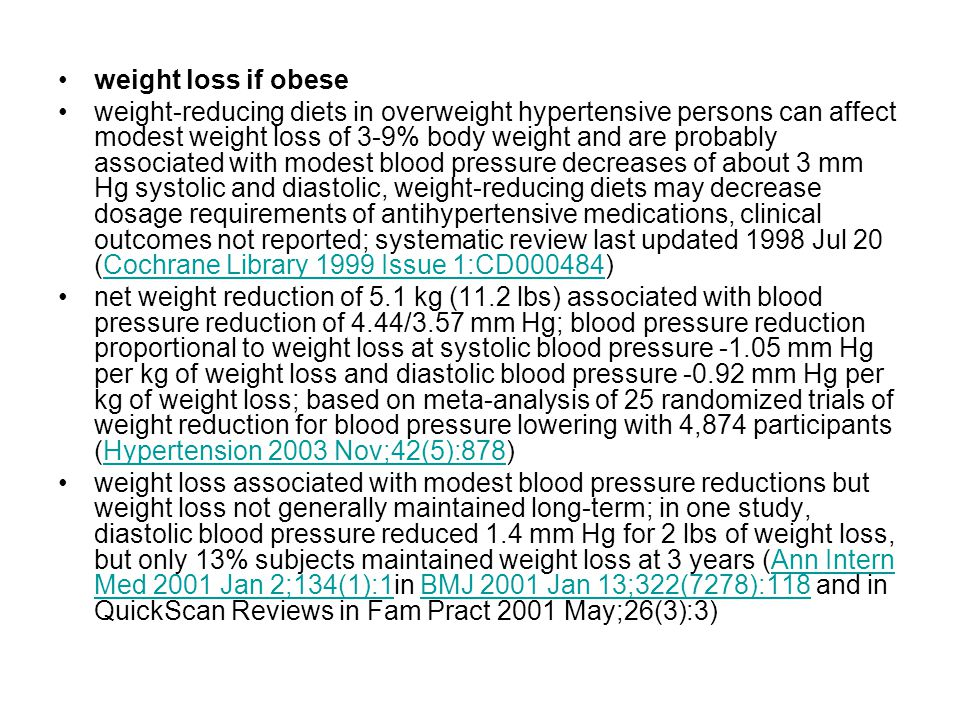 weight loss if obese