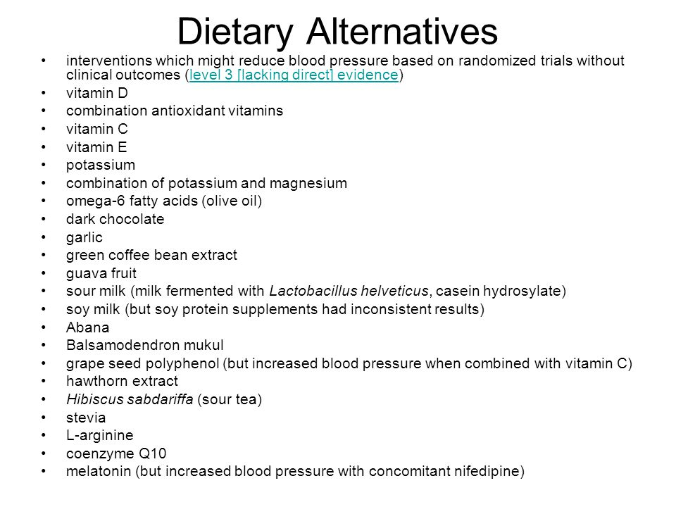 Dietary Alternatives