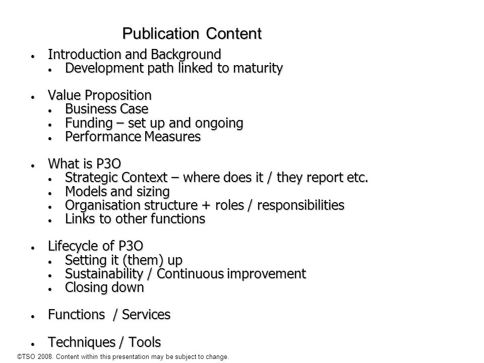 Publication Content Introduction and Background