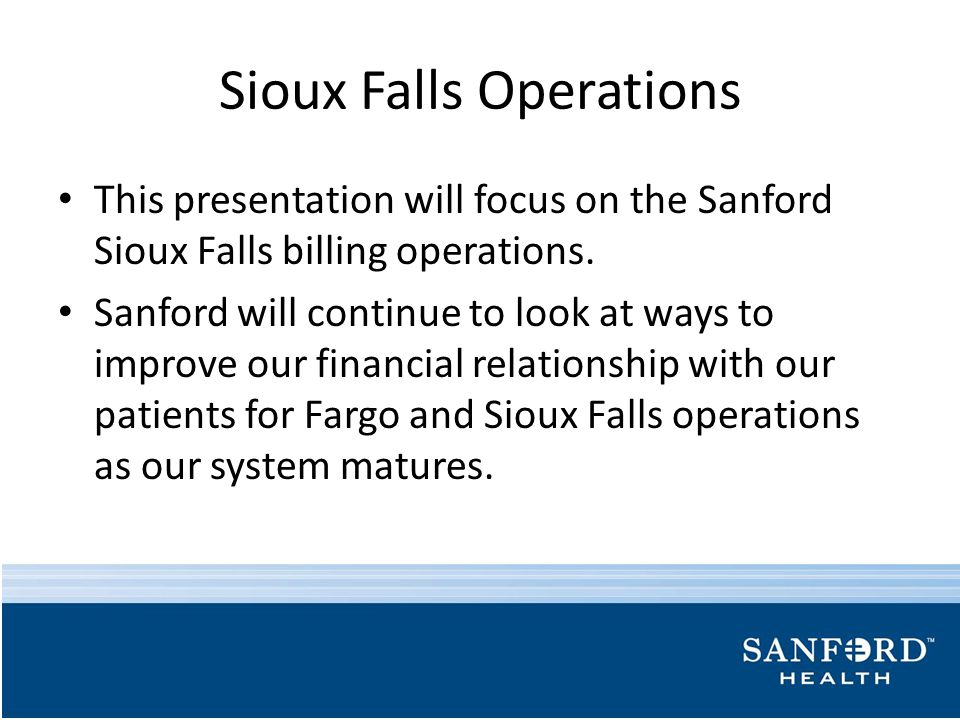 Sioux Falls Operations