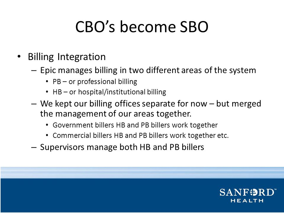 CBO's become SBO Billing Integration