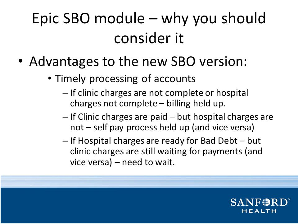 Epic SBO module – why you should consider it