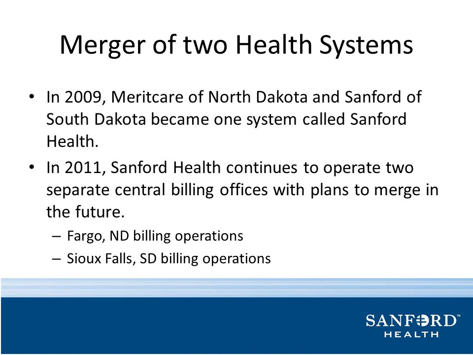 Merger of two Health Systems