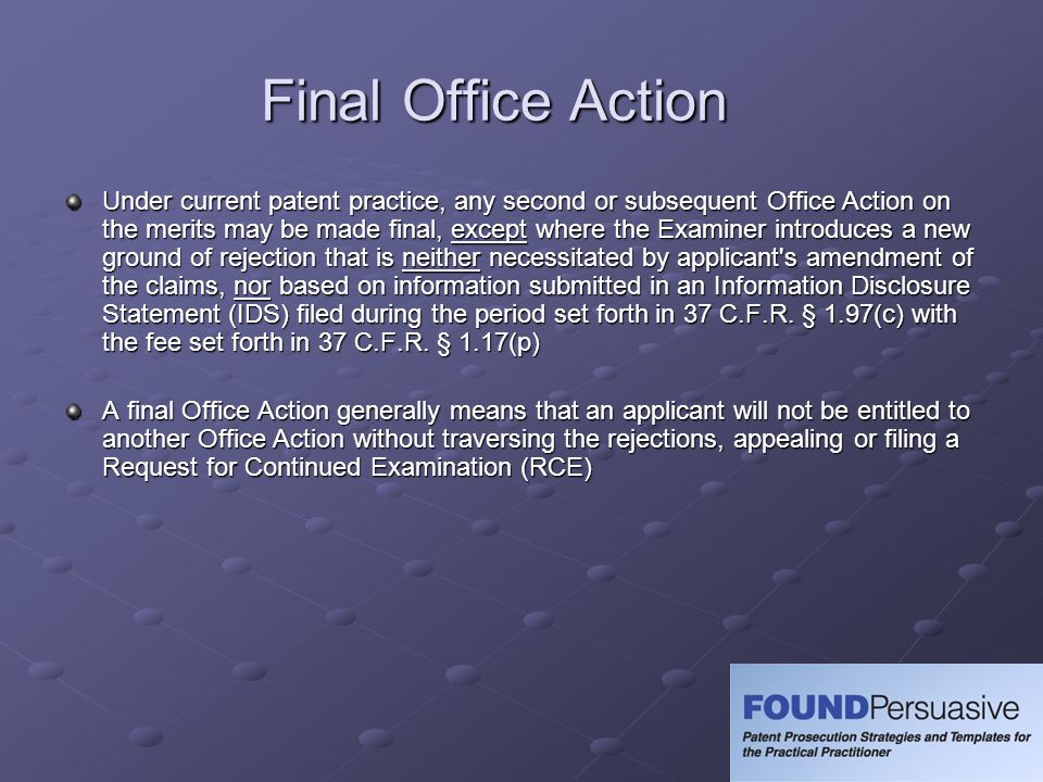 Final Office Action