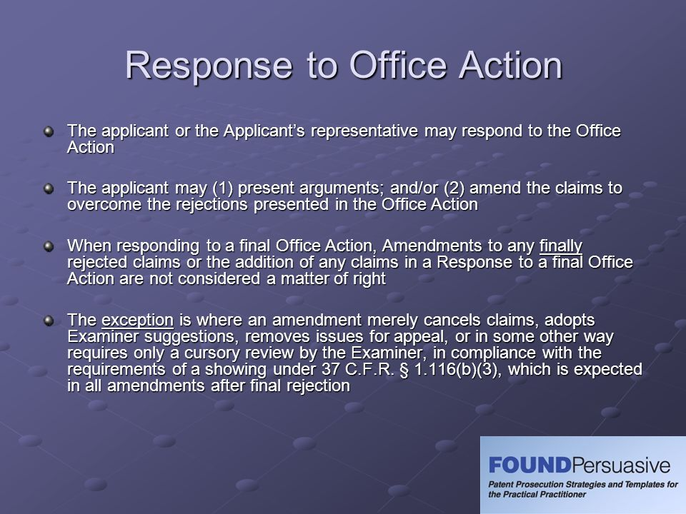 Response to Office Action