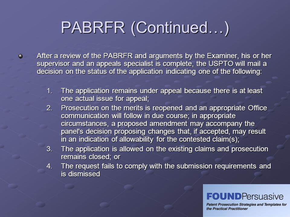 PABRFR (Continued…)