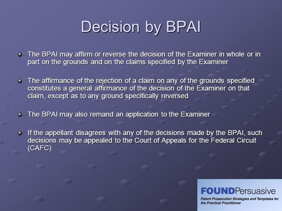 Decision by BPAI