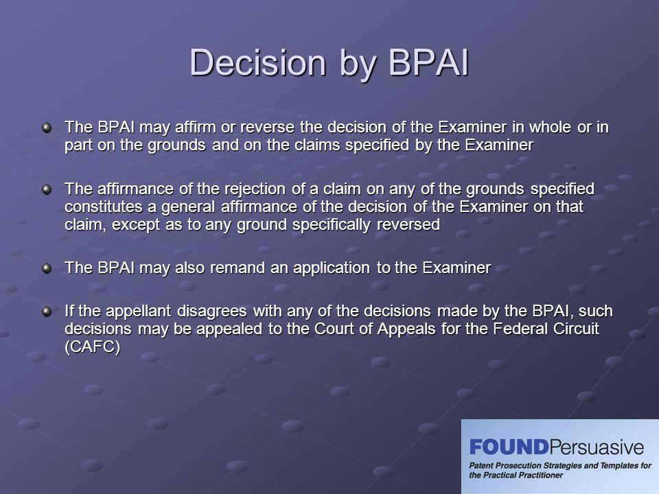 Decision by BPAI
